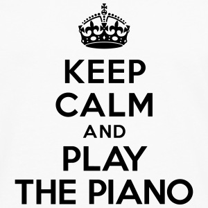 Keep calm and play the piano Bouteilles et tasses - T-shirt manches longues Premium Homme