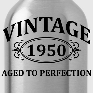Vintage 1950 Aged to Perfection T-Shirts - Water Bottle