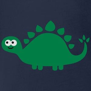 Funny cute dinosaur Shirts - Organic Short-sleeved Baby Bodysuit
