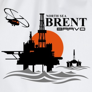 Brent Bravo Oil Rig Platform North Sea Aberdeen - Drawstring Bag