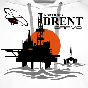 Brent Bravo Oil Rig Platform North Sea Aberdeen - Men's Premium Hoodie