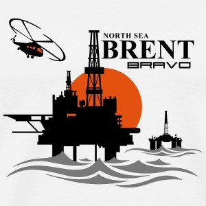 Brent Oil Rig Platform North Sea Aberdeen - Men's Premium T-Shirt
