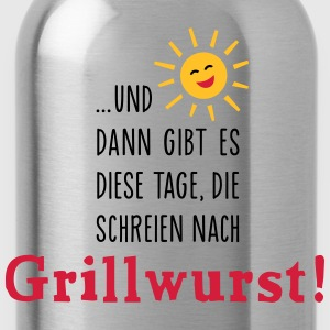 Grillwurst Tage - Barbecue - BBQ - Sonne - 3C T-Shirts - Trinkflasche