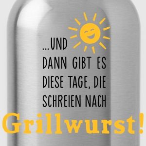 Grillwurst Tage - Barbecue - BBQ - Sonne - 2C T-Shirts - Trinkflasche