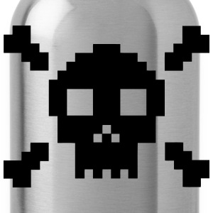 Pixel Skull T-Shirts - Water Bottle