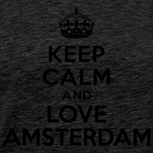 Keep calm and Love Amsterdam Sweat-shirts - T-shirt Premium Homme
