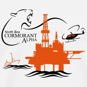 Cormorant Oil Rig Platform North Sea Aberdeen - Men's Premium T-Shirt