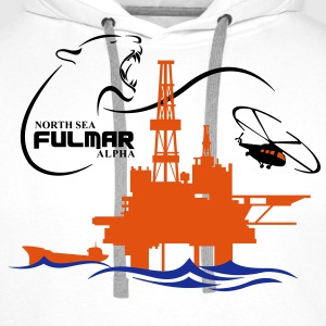 Fulmar Oil Rig Platform North Sea Aberdeen - Men's Premium Hoodie