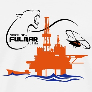 Fulmar Oil Rig Platform North Sea Aberdeen - Men's Premium T-Shirt