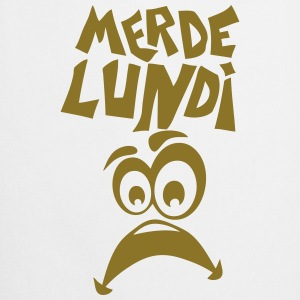 merde lundi smiley triste Tee shirts - Tablier de cuisine