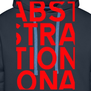 ABSTRACT ROUGE Tee shirts - Sweat-shirt à capuche Premium pour hommes