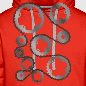 Gears with chain  T-Shirts - Men's Premium Hoodie