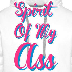 Spirit of my ass Tee shirts - Sweat-shirt à capuche Premium pour hommes