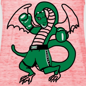 Dragon boxing sport fighting cool comic T-Shirts - Women's Tank Top by Bella