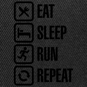 Eat sleep run repeat Tee shirts - Casquette snapback