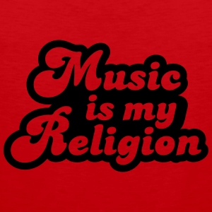 Music is my religion T-Shirts - Men's Premium Tank Top