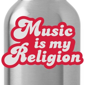 Music is my Religion T-shirts - Drikkeflaske