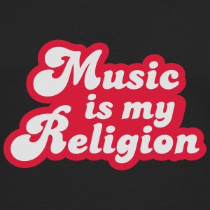 Music is my Religion T-shirts - Långärmad premium-T-shirt herr