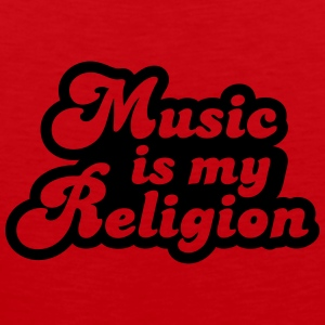 Music is my religion T-shirts - Herre Premium tanktop