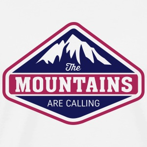 THE MOUNTAINS ARE CALLING Pullover & Hoodies - Männer Premium T-Shirt