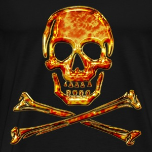 Crâne, Skull, Fire, pirate, digital, crânes de cristal, feu, flamme, drapeau de pirates Sweat-shirts - T-shirt Premium Homme