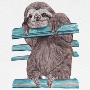 Grau meliert Hey mr sloth T-Shirts - Baseballkappe
