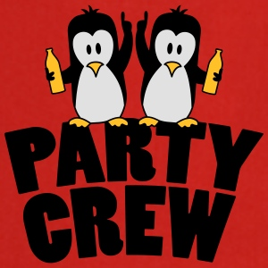 Drunk drinking party crew team 2 penguins T-Shirts - Cooking Apron