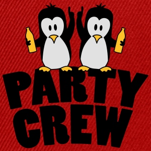 Drunk drinking party crew team 2 penguins T-Shirts - Snapback Cap