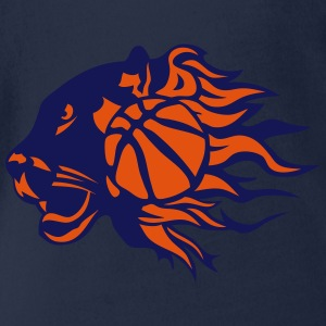 Basketball Feuer Flamme Panther-Logo T-Shirts - Baby Bio-Kurzarm-Body