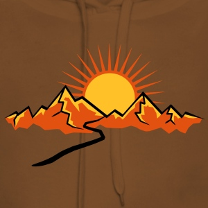 Mountain hiking trail and Sun T-Shirts - Women's Premium Hoodie
