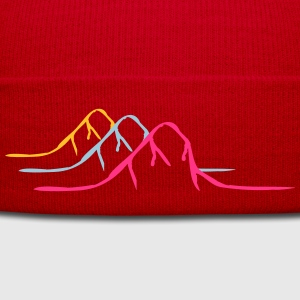 3 colorful mountains Alps T-Shirts - Winter Hat