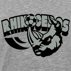 football rhinoceros logo sport animal Tee shirts manches longues - T-shirt Premium Homme