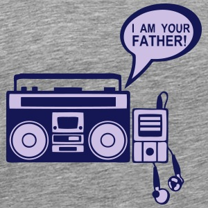 i_am_your_father K7 mp3-Radio-Player 0 Langarmshirts - Männer Premium T-Shirt