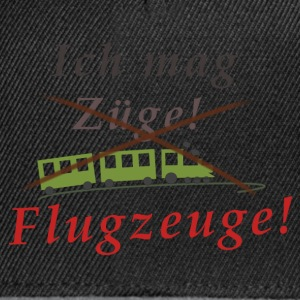 Ich mag Flugzeuge! - Snapback Cap