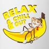 Relax and chill out | Monkey on Banana Bottles & Mugs - Mug