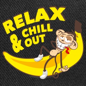 Relax and chill out | Monkey on Banana T-Shirts - Snapback Cap