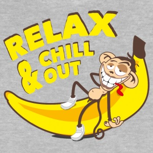 Relax and chill out | Monkey on Banana Long Sleeve Shirts - Baby T-Shirt