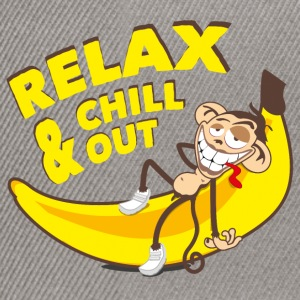 Relax & chill out | Affe auf Banane - Snapback Cap
