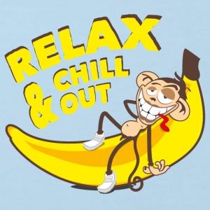 Relax & chill out | Affe auf Banane - Kinder Bio-T-Shirt