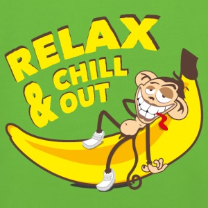 Relax and chill out | Monkey on Banana Bags & Backpacks - Kids' Premium Hoodie