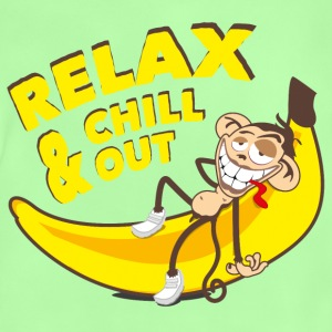 Relax and chill out | Monkey on Banana Bags & Backpacks - Baby T-Shirt