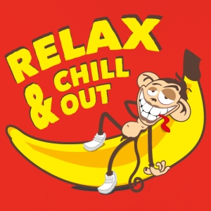 Relax and chill out | Monkey on Banana T-Shirts - Kids' Premium Hoodie