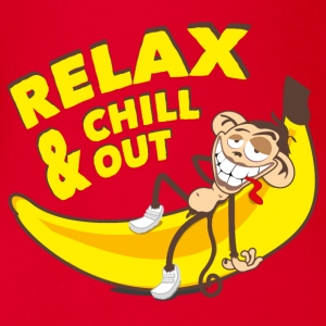 Relax and chill out | Monkey on Banana Shirts - Organic Short-sleeved Baby Bodysuit