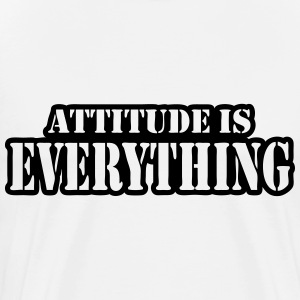 Attitude is everything Long sleeve shirts - Men's Premium T-Shirt