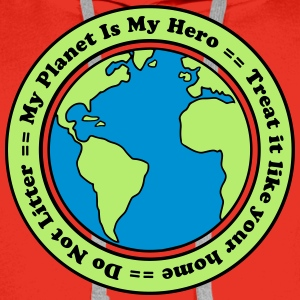 My Planet is my Hero T-shirts - Premiumluvtröja herr