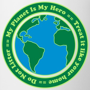 My Planet is my Hero Camisetas - Taza