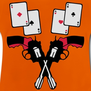 poker pistoler carre as carte revolver 2 Tee shirts - T-shirt Bébé
