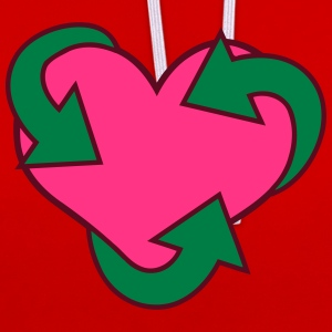Heart Recycle Tee shirts - Sweat-shirt contraste