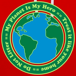 My Planet is my Hero Camisetas - Sudadera con capucha en contraste