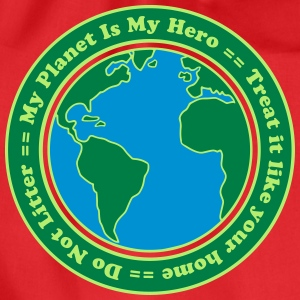 My Planet is my Hero T-shirts - Gymtas
